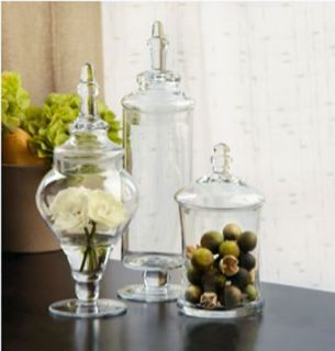 Apothecary Jar 3 Piece Set Wedding Candy Buffet