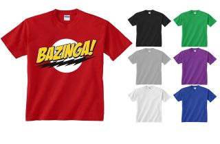 Kids Bazinga Big Bang Theory Sheldon Slogan Funny T shirt NEW Age 5 14