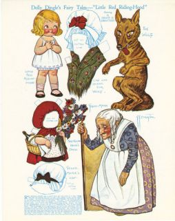Dolly Dingle Grace Drayton Red Riding Hood Fairy Tale Paper Doll
