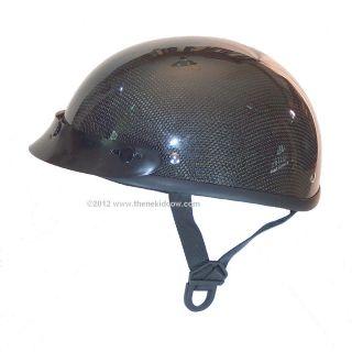 REAL CARBON FIBER DOT Motorcycle Helmet Skull Cap LOW PROFILE DAYTONA