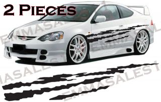 Strips Body Graphics 2 Pieces Stickers Decal Vinyl Car Graphics #222