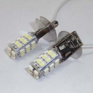 12V DC Xenon White 28 SMD LED H3 Fog Car Light Bulbs Lamp for BMW Audi