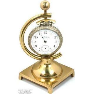 Pocket Watch Case Holder Brass Stand 1 Arm Display