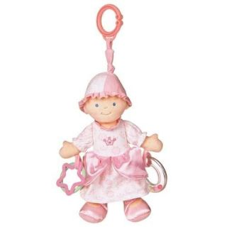 Princess Activity Toy Stuffed Baby Doll Girl NEW Car Seat Hanger Pink