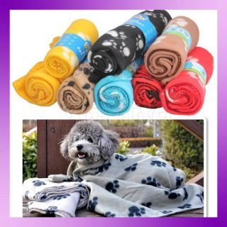 Hot Sell Pet Dog Cat Paw Prints Fleece Couture Blanket Mat Design