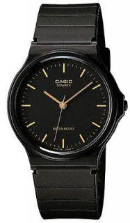 Casio MQ24 1E Mens Black Resin Strap Casual Black Dial Analog Watch