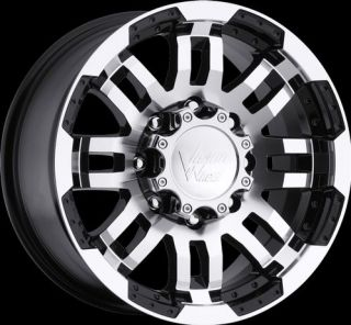Warrior Black Machined Wheels Rims 6x5.5 6x139.7 6 lug Chevy GM Truck