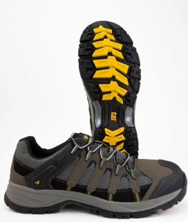 CATERPILLAR MENS LINCHPIN STEEL TOE MED COLOR MILITARY/PEPPE​R