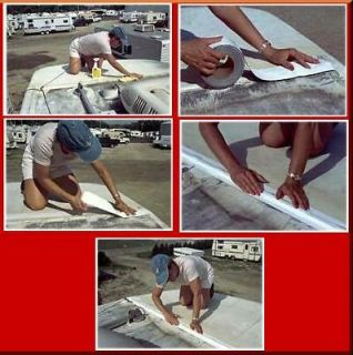 White Eternabond Mobile Home RV Rubber Roof Repair 4 x 5 Free