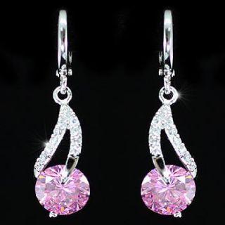 Dangle 2 Carat Pink Sapphire Earrings SE302