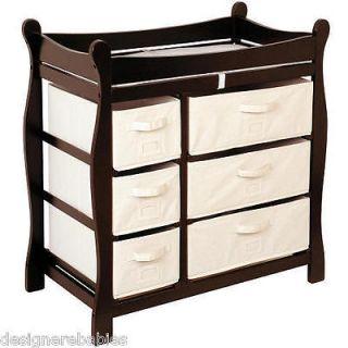 Basket 6 Drawer Storage Dresser Changing Table Changer EXPRESSO~ NEW