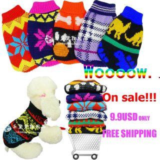 pet dog cat clothing sweater appreal clothing smalldog