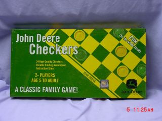 JOHN DEERE CHECKERS, BRAND NEW SET