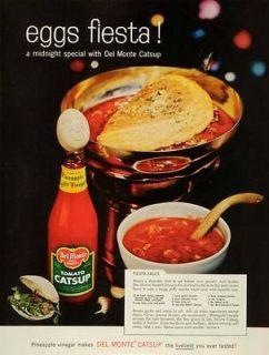 1959 Ad Eggs Fiesta Del Monte Tomato Catsup Sauce Recipe Midnight