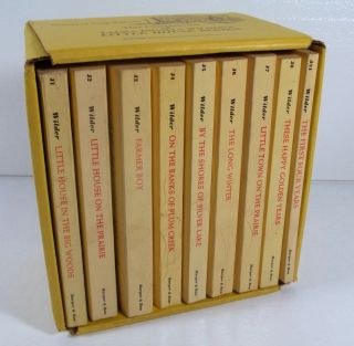 LITTLE HOUSE ON THE PRAIRIE LAURA INGALLS WILDER 9 VOL BOX SET HARPER