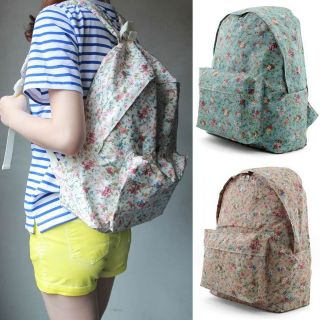 Unihood New Womens Cute Small Flower Floral Backpack Girls School Bags
