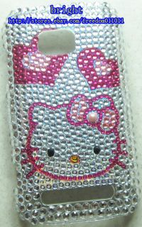 New Hello kitty Rhinestone BLing Case Cover For Nokia Lumia 710 #4