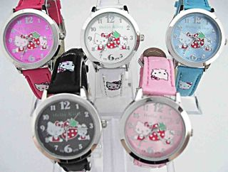 pc Student Hello Kitty wrist watch Child 5 Color Lot of Mix