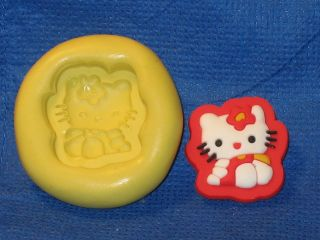 Hello Kitty Push Mold Resin Clay Candy Food Safe Silicone #527