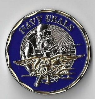 Navy SEALS Trident Special Forces Challenge Coin E_St