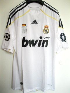 REAL MADRID HOME CHAMPIONS LEAGUE UCL FOOTBALL SOCCER JERSEY TRIKOT