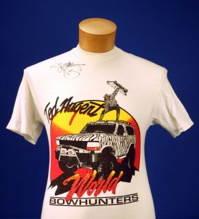 TED NUGENT 'WORLD BOWHUNTERS' SHEMANE SIGNED T SHIRT