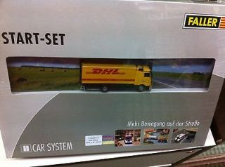 Faller HO Train Car System Start Set Mercedes Benz Actros Truck DHL