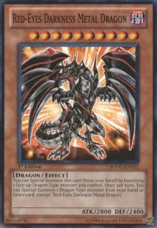 1x Red Eyes Darkness Metal Dragon Near Mint Structure Deck: Dragons