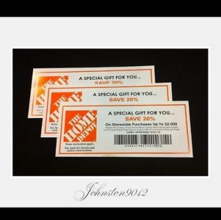 HOME DEPOT COUPON 20% OFF TO BE USED @ LOWES, ACE & MENARDS 12/31/12