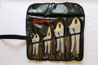 Snap On Pliers,4 Piece Combination Locking Pliers Set , Brand New