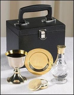 Chalice Paten Pyx Holy Water Bottle Carrying Case Minister Traveling