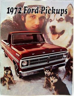 FORD MOTOR COMPANY PICKUP TRUCKS ADVERTISING SALES BROCHURE 1972