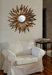 Sunburst Prentiss Decorative Round Wall Starburst Mirror   40W