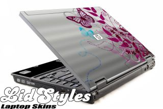 LidStyles PINK BUTTERFLY Laptop Skin Decal fits HP Compaq 2510p 2510
