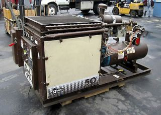 Quincy Double 50 HP Screw Type Compressor System w/ Dryer & Contam