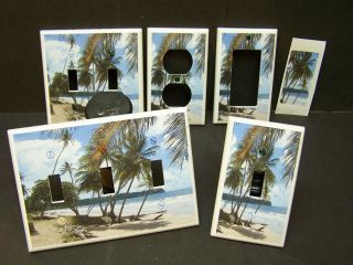 TROPICAL PARIDSE BEACH PALM TREE # 21 LIGHT SWITCH COVER PLATE OR