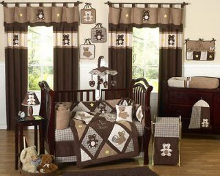 BROWN TEDDY BEAR BABY BOY CRIB COMFORTER BEDDING SET ROOM COLLECTION
