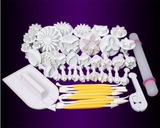 Fondant Cake Cutter Decorating Plunger DIY Tools Leaf/Flower/Butterfly