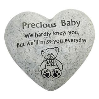 In Loving Memory Graveside Heart Plaque Stone   Precious Baby Grave