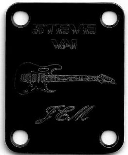 Guitar Parts NECK PLATE Custom Engraved   Ibanez Jem   STEVE VAI