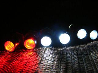 RC LED LIGHT KIT 2 WHITE 2 RED,TRAXXAS,HPI,LOSI, NEW