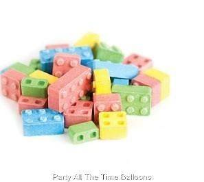 Set of 12 BAGS of LEGO Brick Blocks CANDY Party Favors