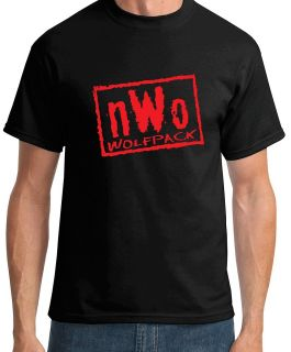 NWO Wrestling Black and Red Logo Mens Shirt S 2XL WOLFPACK WCW