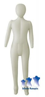 Inflatable Child Mannequin, FULL SIZE head & arms IVORY