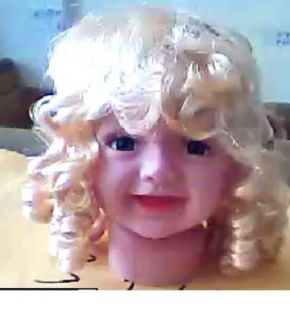 Child Kid baby girl Female Mannequin Head for Display cap hair Wig