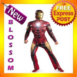 C559 Iron Man 2 2010 Movie   Mark 6 Deluxe Light Up Halloween Fancy