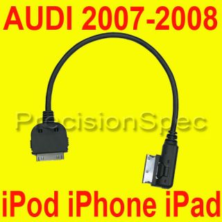 AUDI MUSIC INTERFACE AMI MMI AUX INPUT IPOD IPHONE 4s CABLE ADAPTER