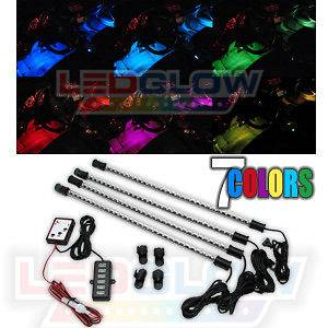 4pc EXPANDABLE 7 COLOR LED INTERIOR KIT 15 INCH TUBES
