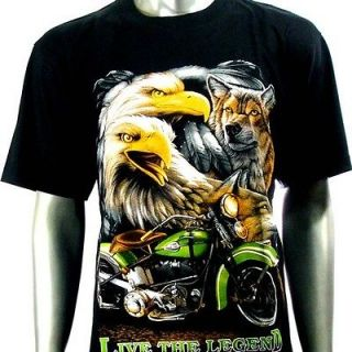 Wolf Tattoo T Shirt Biker Rider Graffiti bmx Rock Indie Street BE3