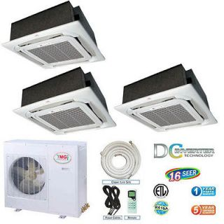 Ductless Mini Split 16 SEER DC Inverter 12K+12K+12K BTU Indoor Units